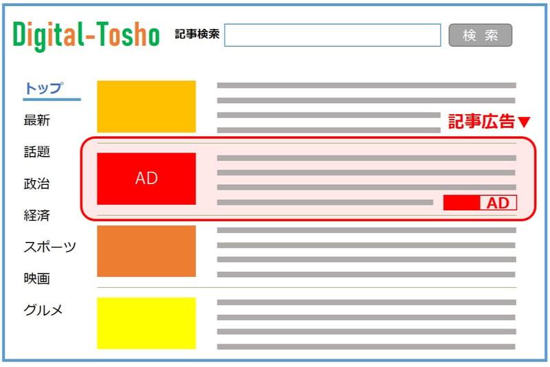 記事広告_広告の種類