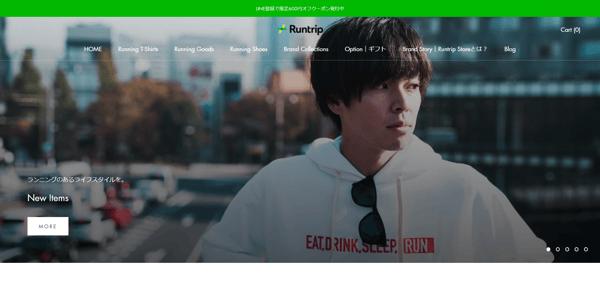 Runtrip Store|ランニングのあるライフスタイルを。 - store.runtrip.jp